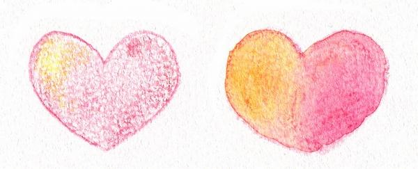 水彩色鉛筆の混色