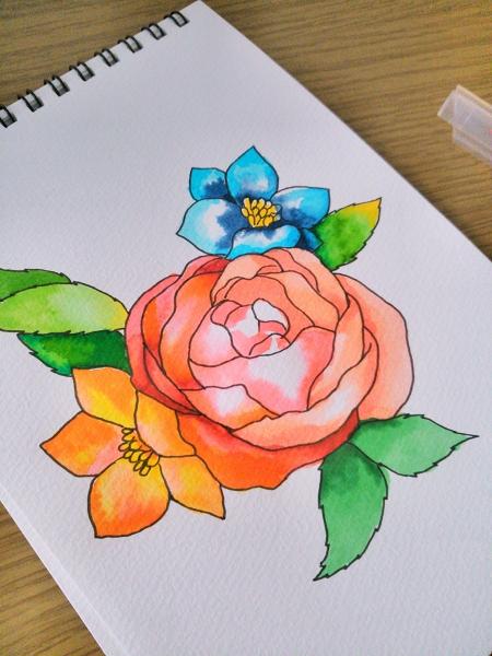 大人の塗り絵に使えるペンの使い方