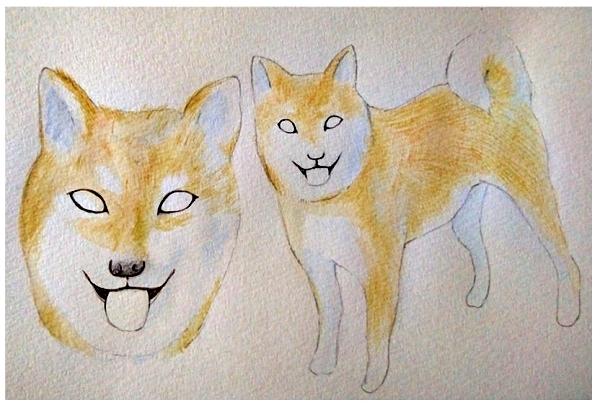色鉛筆での毛並の描き方