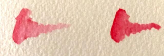 水彩色鉛筆 塗り方 水分量比較