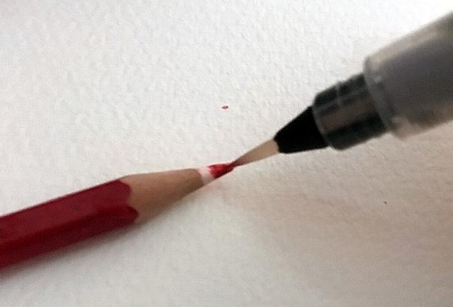 水彩色鉛筆の花の塗り方描き方
