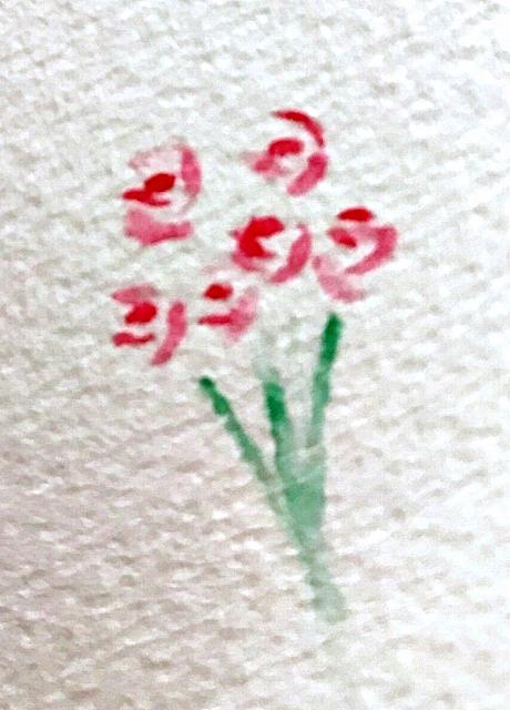 水彩色鉛筆の花の描き方コツ 花束