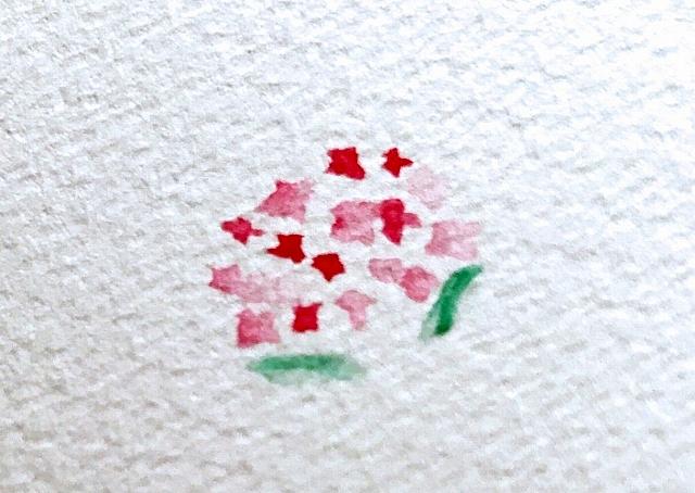 水彩色鉛筆の花の描き方コツ